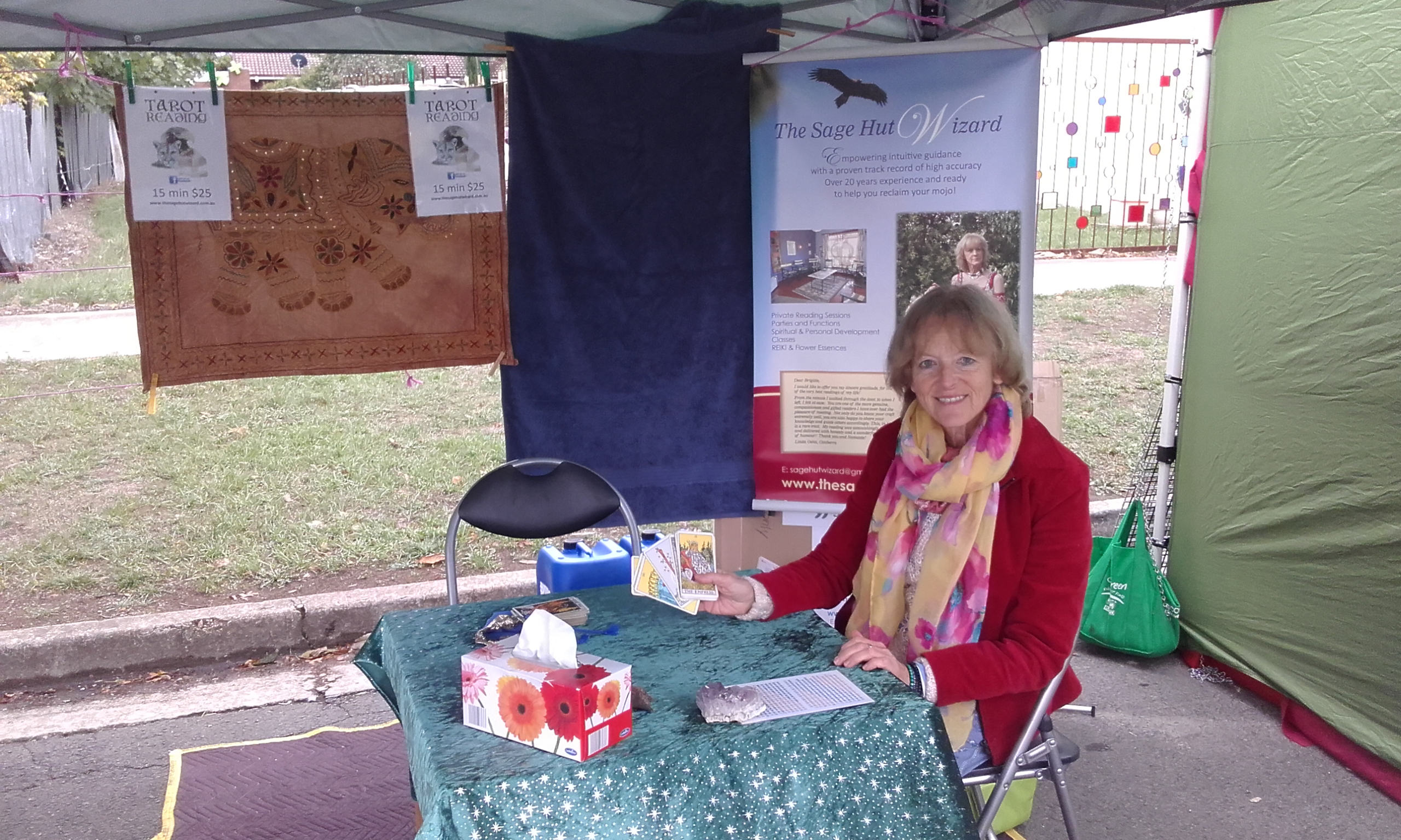 The Sage Hut Wizard stall at Ballan Autumn Festival