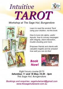 Intuitive Tarot flyer Bdore May